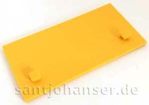 Bauplatte 30x60 gelb 2Z - Building plate yellow