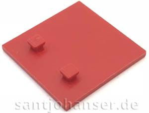 Bauplatte 30x30 rot - Building plate red