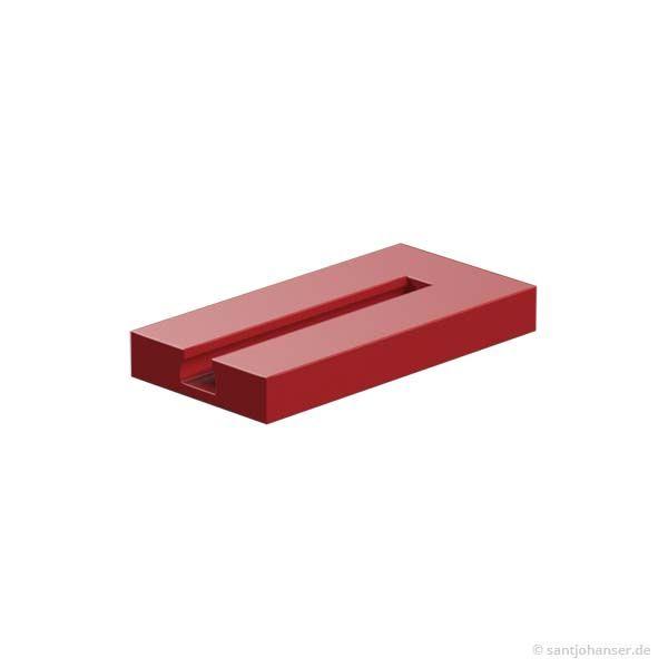 Bauplatte 15x30x3,75 mit Nut, rot