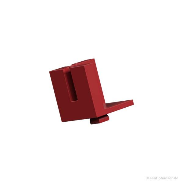 Baustein V15 Eck, rot