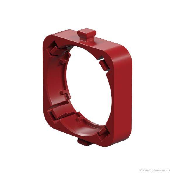 Linsenhalter plankonvex, rot