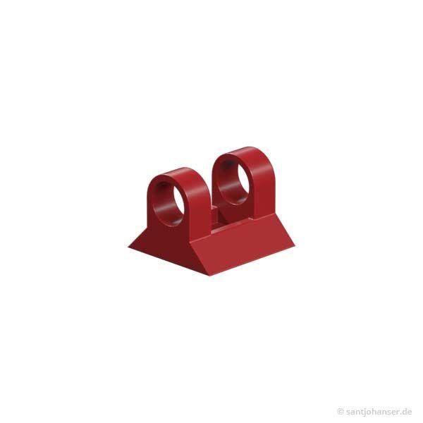 Gelenkwürfel-Klaue rot- Hinged block claw red
