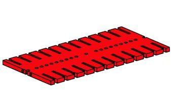 Grundplatte 180x90, rot (gebraucht)