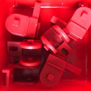 Lenkwürfel-Klaue 1F rot