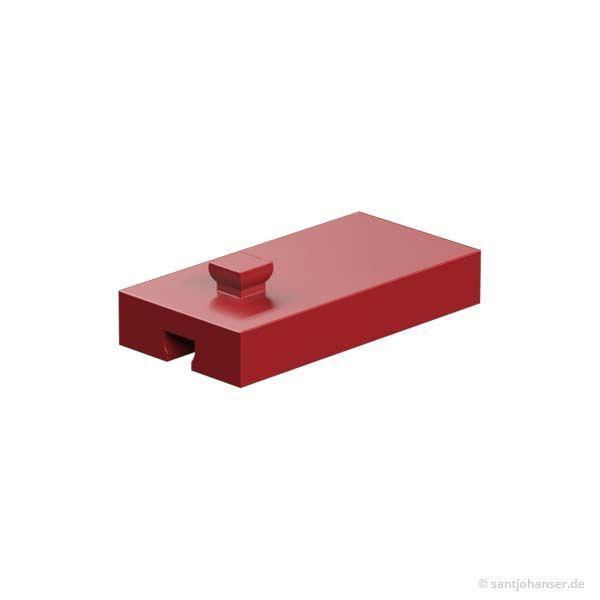 Baustein 15x30x5 mit Nut und Zapfen, rot