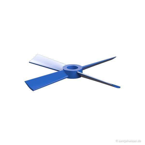 Luftschraube mit 4 Flügeln, blau