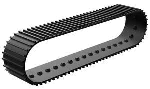 Raupenband 139x34, schwarz