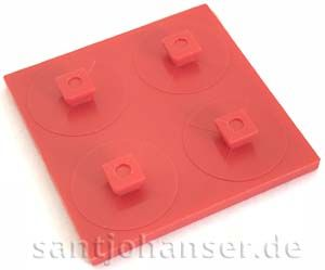 Bauplatte 30 x 30 rot - Building plate red
