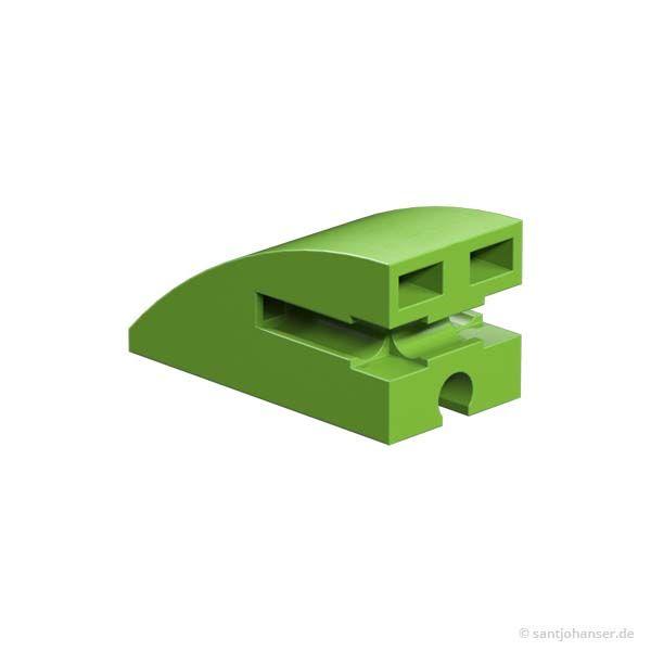 Baustein 15x30 rund, grün