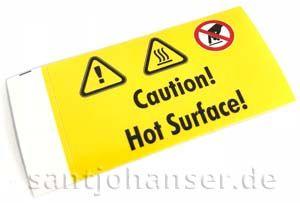 """Aufkleber """"Hot Surface"""""""