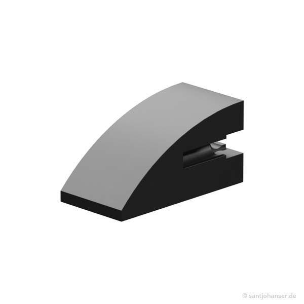 Baustein 15x30 rund, schwarz