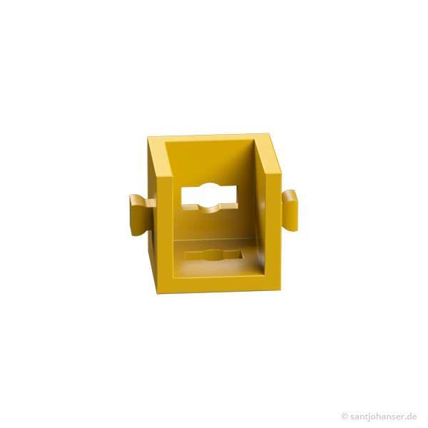 Winkelträger 15 mit 2 Zapfen, gelb