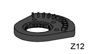 Segmentscheibe Z12 m1,5, schwarz (gebraucht)