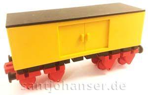 Großraumgüterwagen, gelb - Bau-Spiel-Bahn