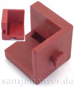 Baustein V 15 Eck dunkelrot - Building block