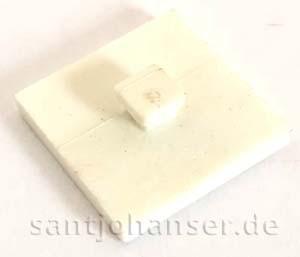 Bauplatte 15x15 weiß - Mounting plate