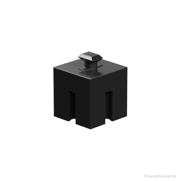 Riegelstein 15x15, schwarz