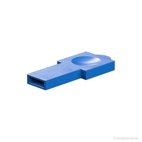 Riegelschlüssel, blau