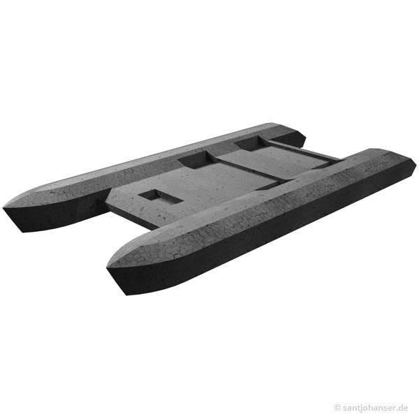 Bootsrumpf Katamaran, schwarz