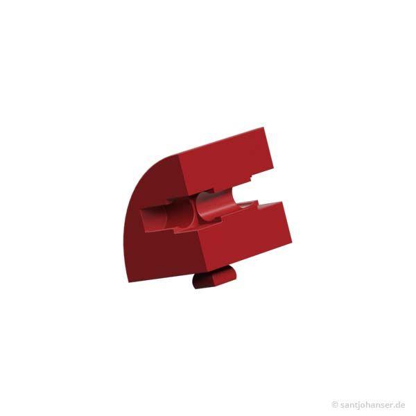 Baustein 15x15 rund, rot