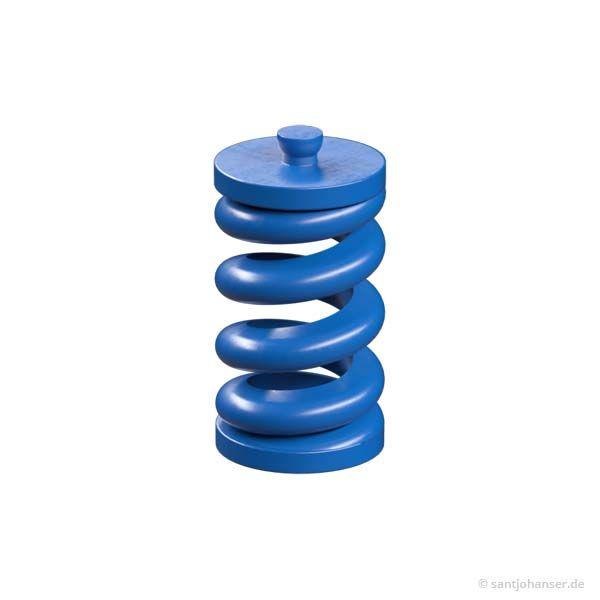 Kunststoff-Feder 26, blau