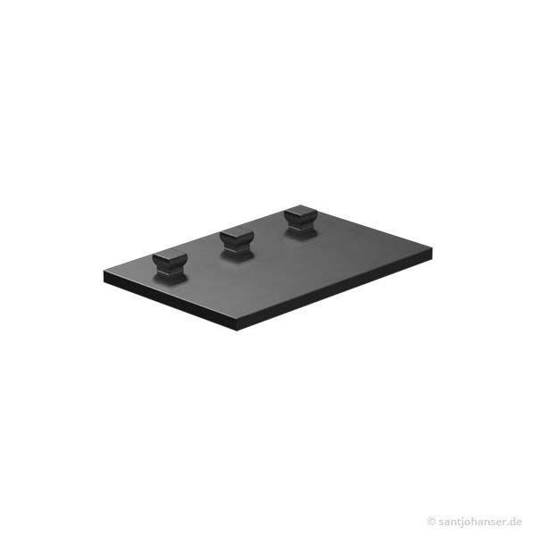 Bauplatte 30x45, schwarz