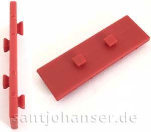 Bauplatte 15x45 mit 2x2 Zapfen, rot