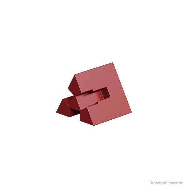 Winkelstein 60° mit 3 Nuten, rot