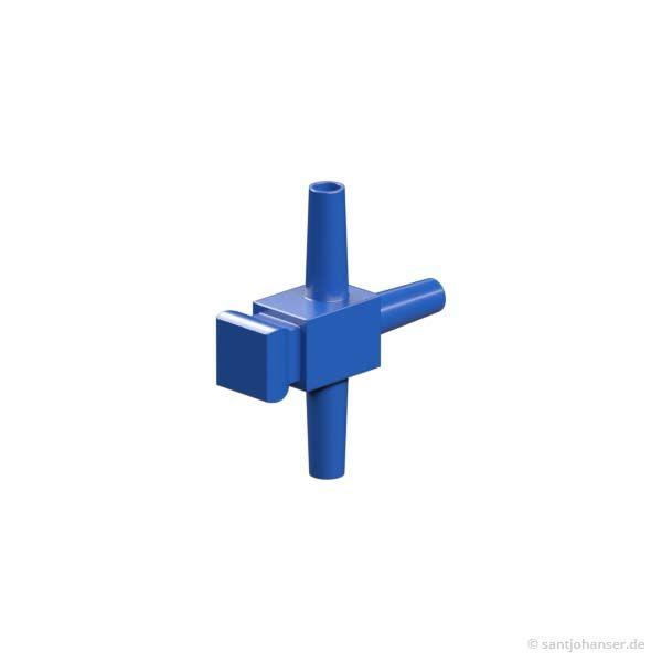T-Stück, blau