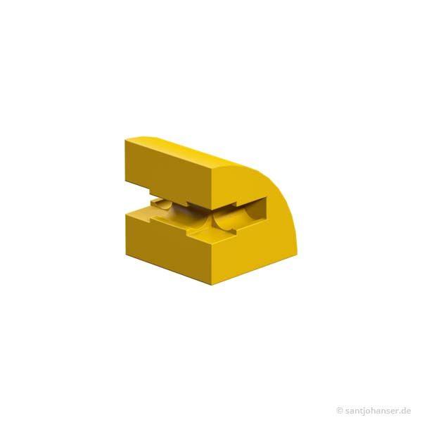 Baustein 15x15 rund, gelb