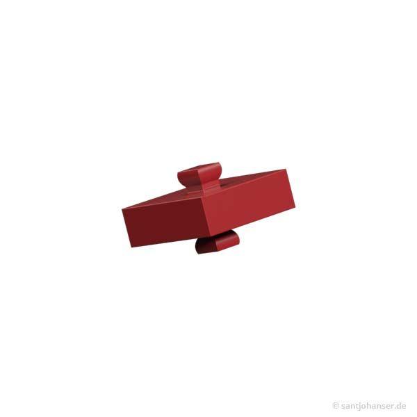 Baustein 5 mit 2 Zapfen, rot