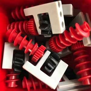 Getriebehalter mit Schnecke m1,5 grau