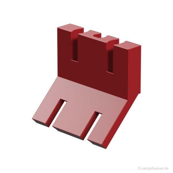 Schaufelhalter, rot