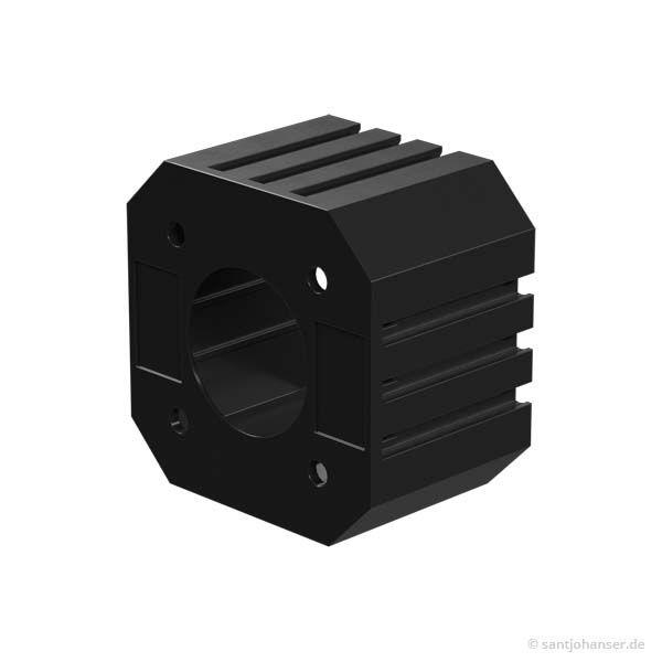 Schrittmotorhalter, schwarz