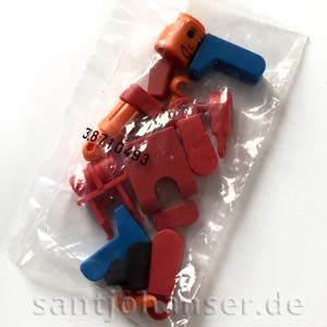 Teilebeutel ft-Männchen rot - Bag with figure red