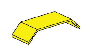 Kotflügel mit Zapfen 75x30, gelb
