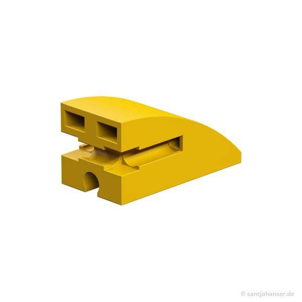 Baustein 15x30 rund, gelb
