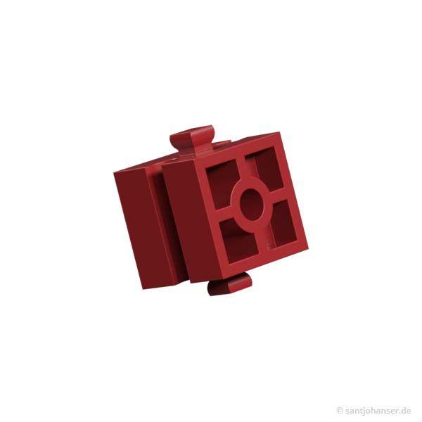 Baustein 15 mit Bohrung, rot
