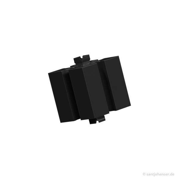 Baustein 15 mit 2 Zapfen, schwarz