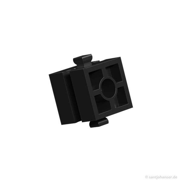 Baustein 15 mit Ansenkung, schwarz