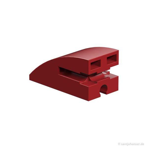 Baustein 15x30 rund, rot