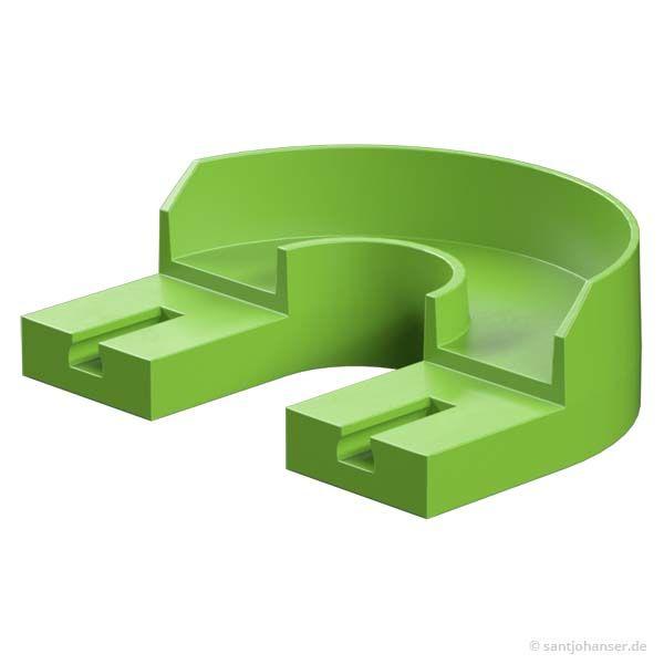 180 Grad Kurve, grün