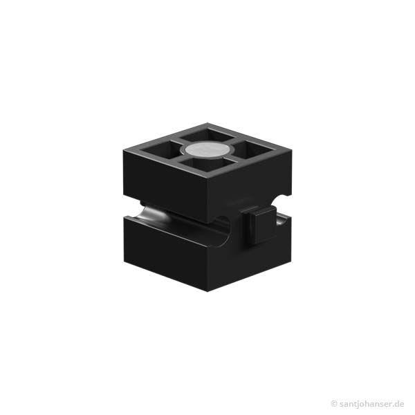 Magnetbaustein, schwarz