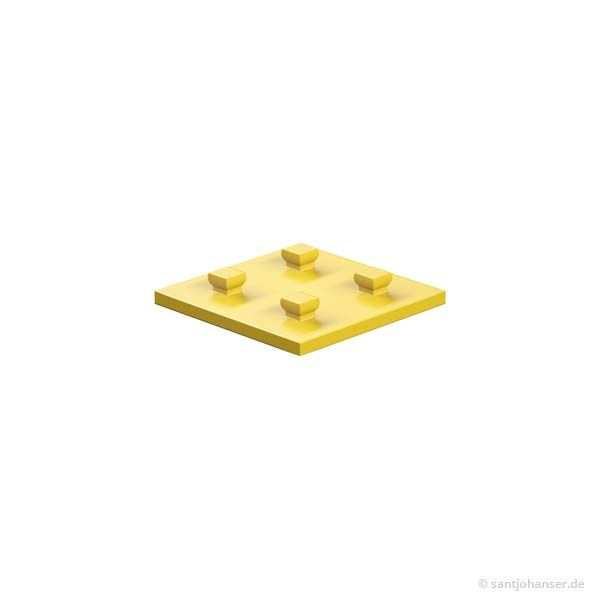 Bauplatte 30x30, gelb