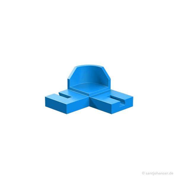 90 Grad Kurve, blau