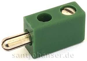 Flachstecker grün - Flat plug