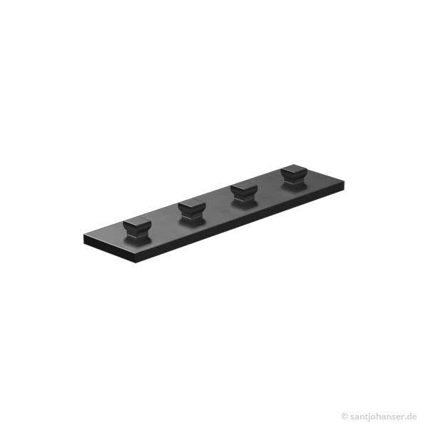Bauplatte 15x60, schwarz