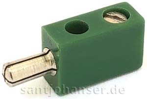 Flachstecker, grün (glänzend)