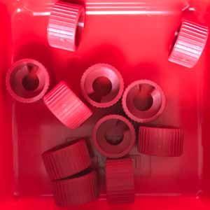Schnecken-Kontermutter m1,5 rot