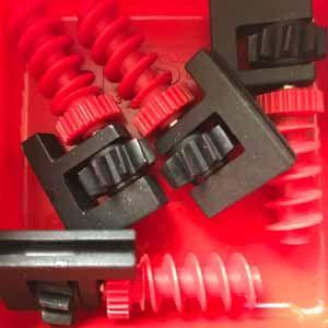 Getriebehalter mit Schnecke m1,5 schwarz rot - Bracket with pinion & worm black red